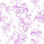 Watercolor swirls pattern — Vetor de Stock