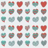 Valentines hearts pattern — Stock Vector