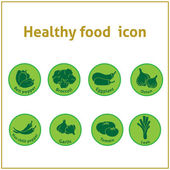 Healthy food icons — Stock Vector