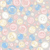 Vintage buttons seamless pattern — Stock Vector