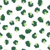 Broccoli seamless pattern — Stock Vector