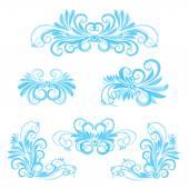 Blue floral elements — Stock Vector