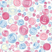 Buttons seamless pattern — Stock Vector