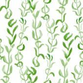 Algae seamless vector pattern — Stock Vector