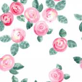 Watercolor roses seamless pattern — Stock Vector