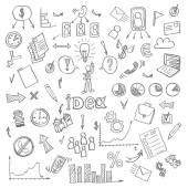 Set of Business doodles — Stock Vector