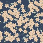 Flowers seamless textile pattern — Stock Vector