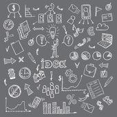 Business creative doodles — Stock Vector