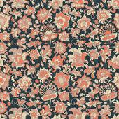 Ethnic flowers seamless pattern — Stock Vector