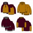 Постер, плакат: Vinous and mustard hoodies