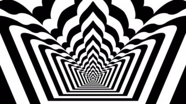 Concentric oncoming abstract symbol — Stok video