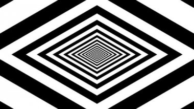 Concentric oncoming rhombus — Stockvideo