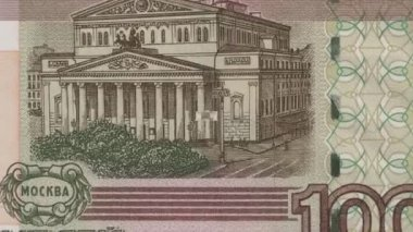 Banknotes of 100 Roubles — Stock Video