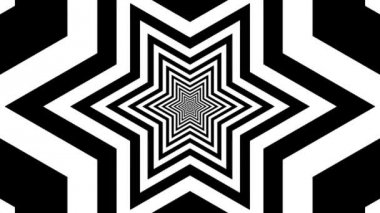 Concentric oncoming hexagram — Stockvideo
