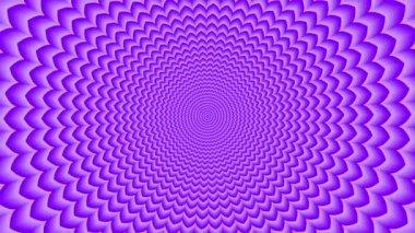 Endless tunnel of purple lotus — Stock Video