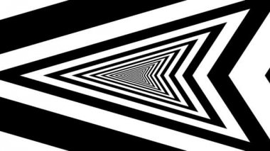 Concentric oncoming left arrow — Vídeo de stock