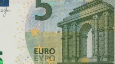 Banknotes of 5 Euro — Stock Video