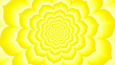 Endless tunnel of yellow lotus — Stock Video