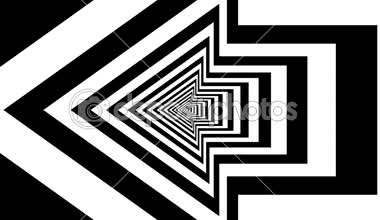 Concentric oncoming left arrow — Video Stock