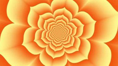 Endless tunnel of orange lotus — Stock Video