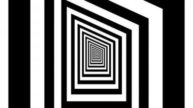 Concentric oncoming uruz rune — Stock Video