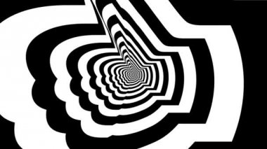 Concentric oncoming gesture — Video Stock