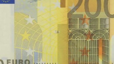 Banknotes of 200 Euro — Stock Video