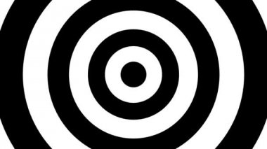 Concentric oncoming targets — ストックビデオ