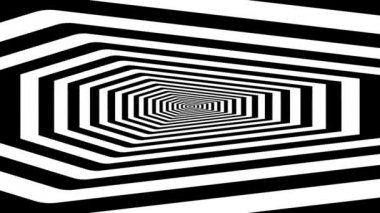Endless tunnel of concentric coffins — Stockvideo