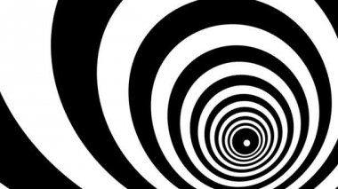 Concentric oncoming rings — Stock Video