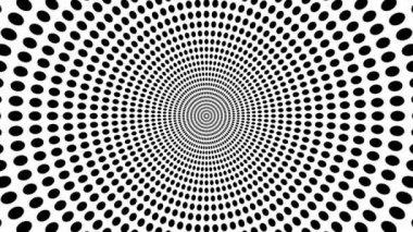 Oncoming symbol of circles — Stock Video