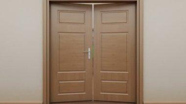 Pass enfilade with doors — Stock Video