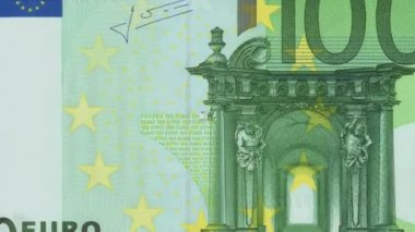 Banknotes of 100 Euro — Stock Video