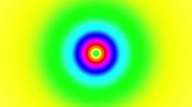 Oncoming symbol of rainbow — Stock Video