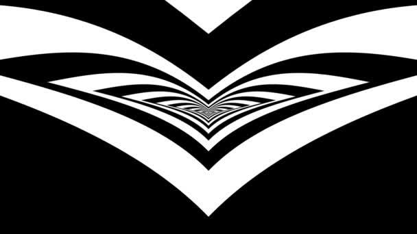 Oncoming abstract symbol of bird — Vidéo