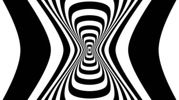Oncoming abstract symbol of sandglass — Vidéo
