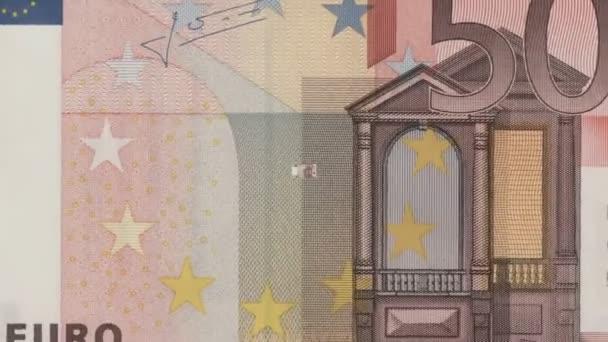Billetes de 50 euros — Vídeo de stock