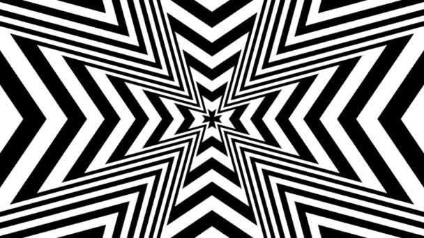Oncoming abstract symbol of cross — Vidéo
