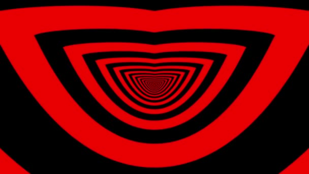 Oncoming abstract symbol of smile — Vidéo