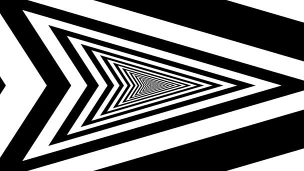 Concentric oncoming right arrow — Vídeo de stock