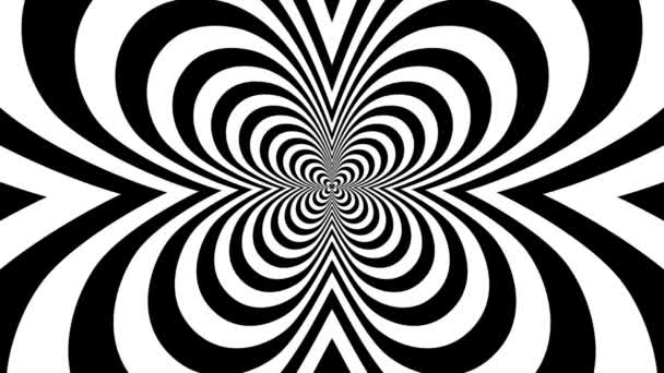 Concentric oncoming butterfly — Vidéo