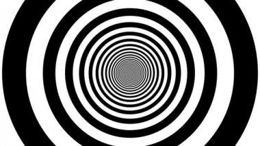 Eindeloze tunnel van cirkels — Stockvideo