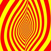 Abstract symbol of  red-yellow flame — Stock Photo