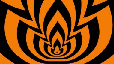 Shifted symbols of orange-black flame — Stockvideo