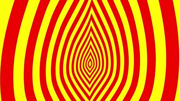 Cambiado de puesto símbolos de fuego rojo-amarillo — Vídeo de stock