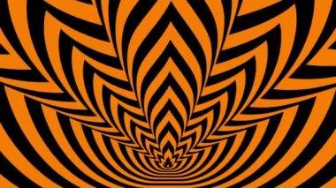 Oncoming symbols of orange-black flame — Vídeo de Stock