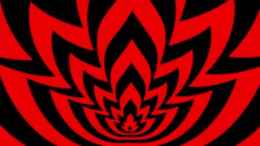 Oncoming symbols of red-black flame — Vídeo de Stock