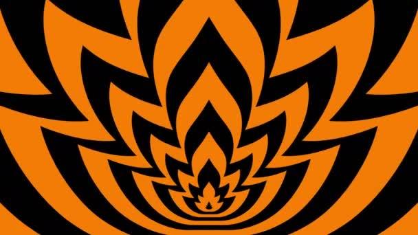 Oncoming symbols of orange-black flame — Vidéo