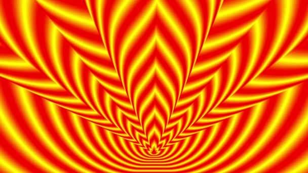 Los símbolos de fuego rojo-amarillo — Vídeo de stock