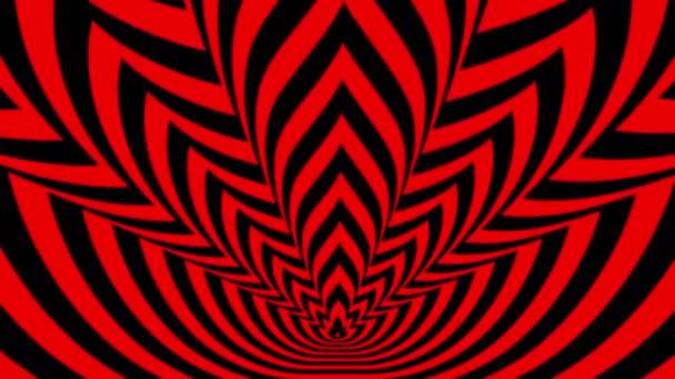 Los símbolos de fuego rojo-negro — Vídeo de stock